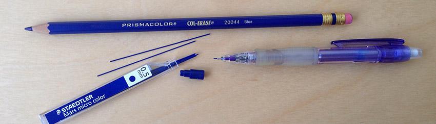 dessin manga crayon bleu