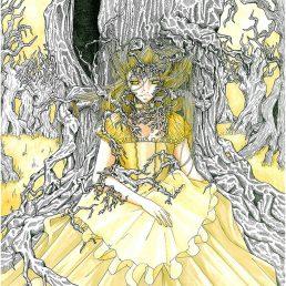 komori Fille-arbre couleur