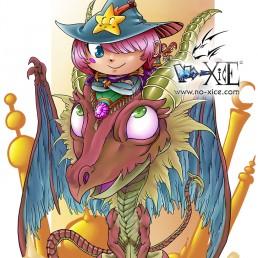 zwickee witch dragoon dessin manga noxice
