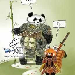 zwickee panda red white manga noxice