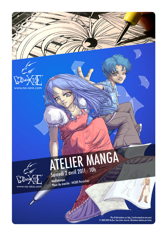 Apprendre le dessin manga à Pornichet par le fanzine No-Xice© Nantes