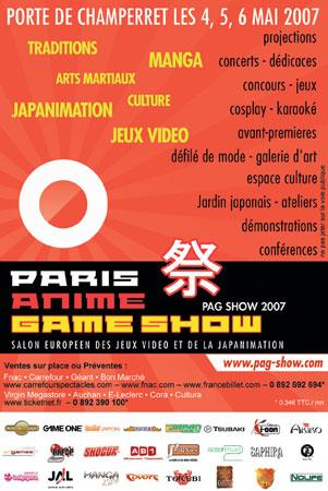 Convention manga cosplay PAG Show 1 No-Xice© fanzine