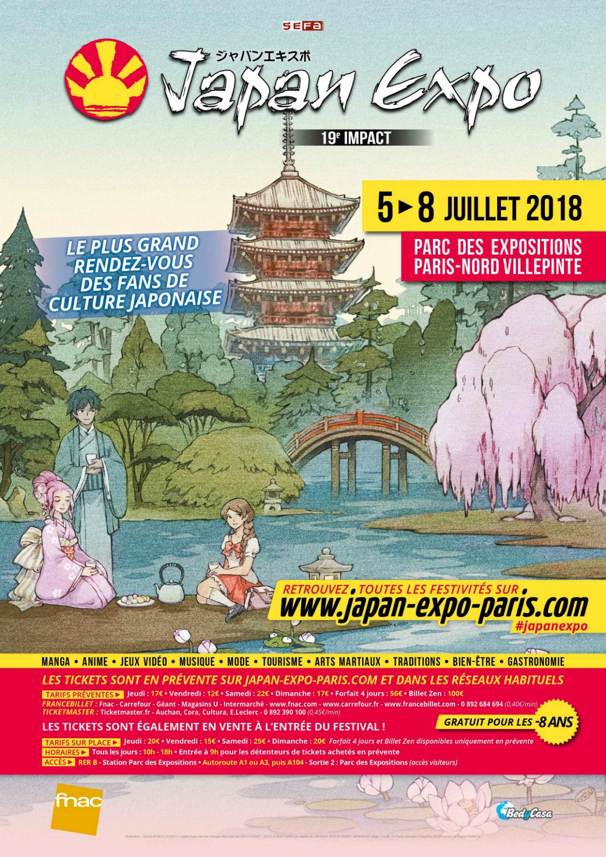 """Résultat de recherche d'images pour """"japan expo 2018 paris affiche"""""""